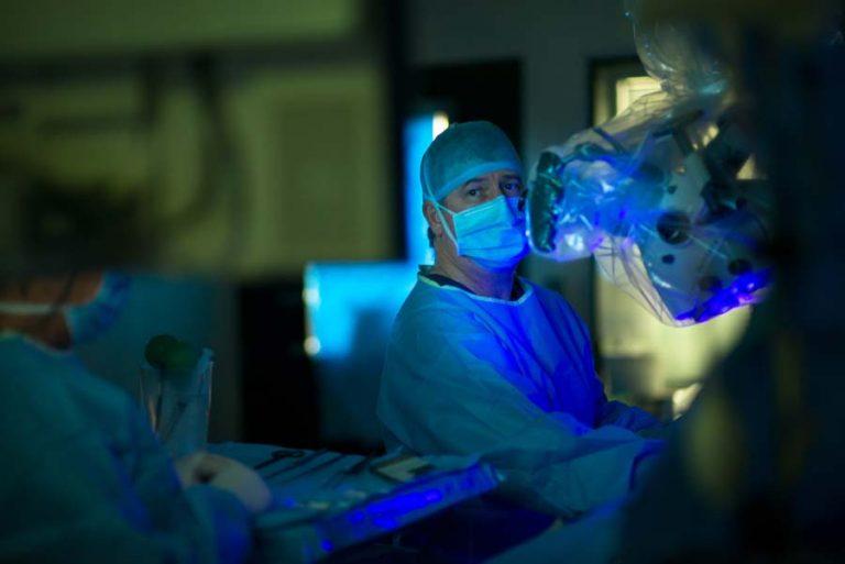 BCNC surgeon in operating theatre
