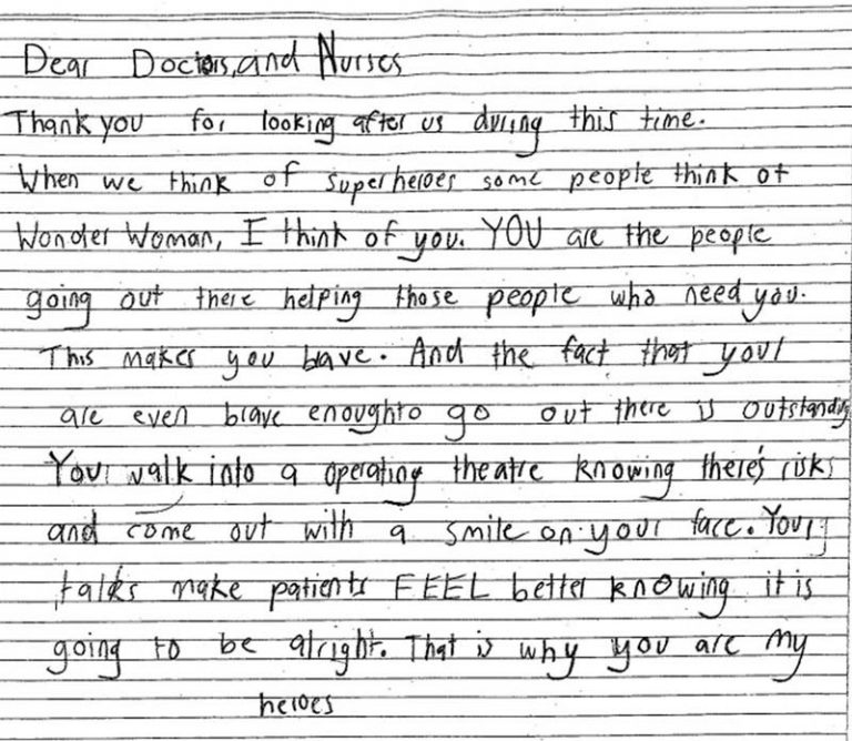 bcnc letter from a child